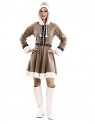 Disfarce vestido esquimó mulher