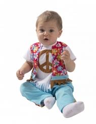 Disfarce pequeno hippie bebé