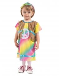 Disfarce vestido pequena hippie bebé