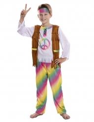 Disfarce hippie arco-íris menino