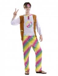 Disfarce hippue arco-íris homem
