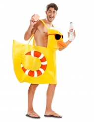 Disfarce pato de banho adulto