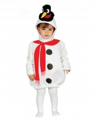 Disfarce boneco de neve chapéu pinguim bebé