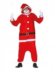 Macacão Pai Natal moderno adulto