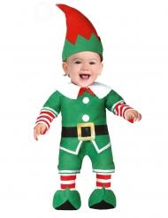 Disfarce pequeno duendo de Natal bebé