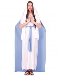 Disfarce Virgem Maria com capa mulher