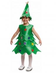 Disfarce árvore de Natal criança