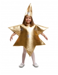 Disfarce estrela dourada criança