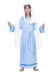 Disfarce Virgem Maria azul menina