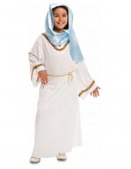 Disfarce Virgem Maria branco e azul menina