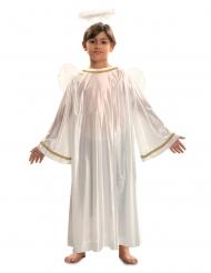 Disfarce anjo branco criança