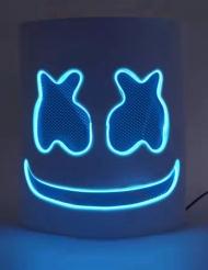 Máscara marshmallow led azul adulto