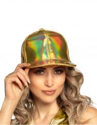Boné dourado iridescente adulto