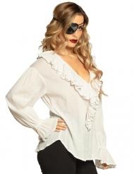 Túnica pirata branco mulher