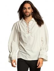 Camisa pirata branco homem