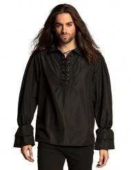 Camisa pirata preto homem