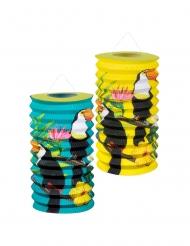 2 lanternas de papel tucano 16 cm