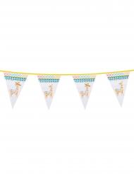 Grinalda de bandeirolas em plástico lama branco 30 x 20 cm 6m