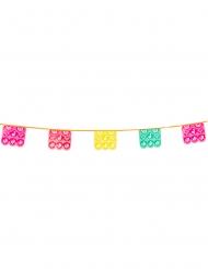 Grinalda de plástico mexicana multicolor 14,5 x 16 cm 6 m
