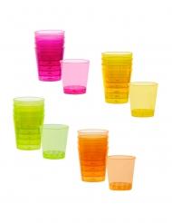 20 Copos shots de plástico mulitcolores