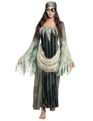 Disfarce vestido comprido pirata fantasma mulher