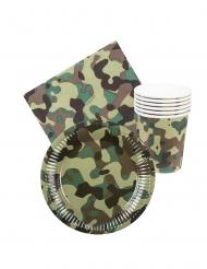 Kit loiça descartável militar 24 peças
