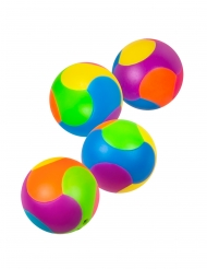 Acessórios pinhata 4 bolas puzzle multicolores 3 cm