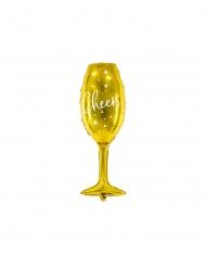 Balão alumínio taça cheers dourado 28 x 80 cm