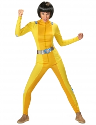 Disfarce espia amarela mulher
