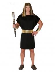 Disfarce Faraó preto e dourado homem
