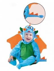 Disfarce dragão azul bebé