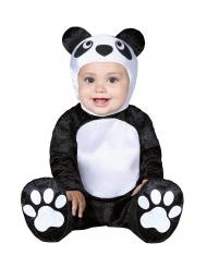 Disfarce pequeno panda bebé