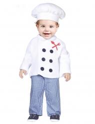 Disfarce cozinheiro bebé