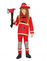 Disfarce de bombeiro vermelho criança