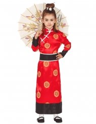 Disfarce chinesa vermelho menina