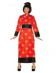 Disfarce chinesa vermelho mulher