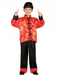 Disfarce chinês vermelho menino