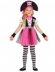 Disfarce pirata cor-de-rosa menina