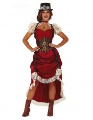 Disfarce steampunk sexy vermelho mulher