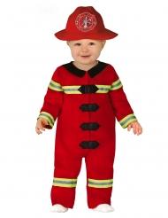 Disfarce pequeno bombeiro bebé