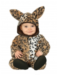 Disfarce leopardo pelúcia bebé
