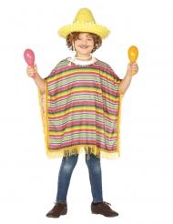 Poncho mexicano para criança
