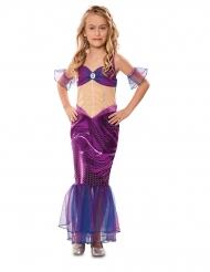 Disfarce de sereia violeta menina