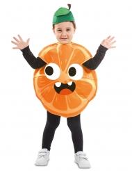 Disfarce pequena laranja criança