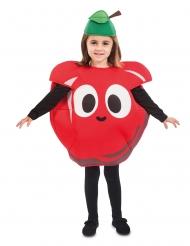 Disfarce maçã vermelha criança