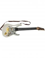 Guitarra elétrica branca 67 cm