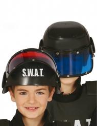 Capacete com viseira SWAT criança
