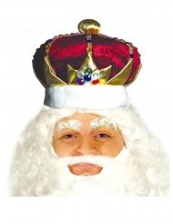 Coroa rei vermelha e dourada adulto