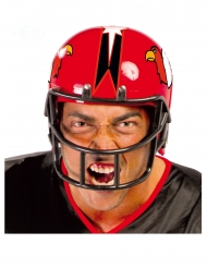 Capacete de futebolista americano vermelho adulto