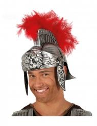 Capacete centurião romano penas vermelho adulto